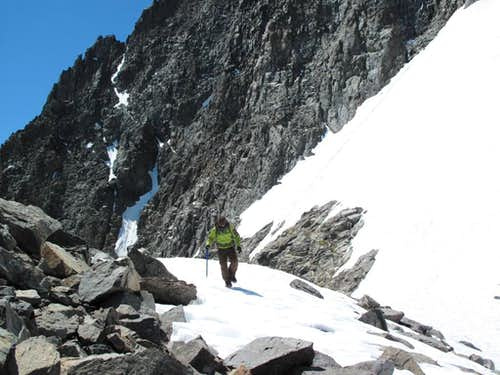 Corina on the Banner-Ritter Col (noon on July 27)