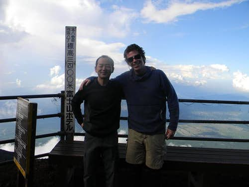 At 3200 meters on Fujisan