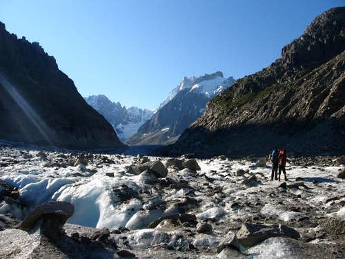 Hiking on Mer de Glace