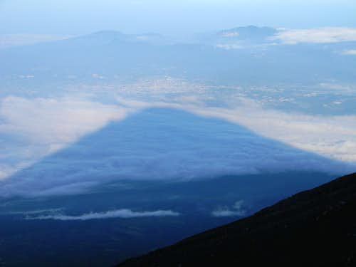 The Shadow of Fuji near Sunset