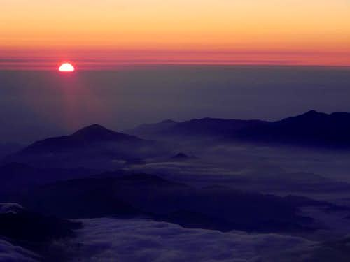 Sunrise from the Rim of Fujisan