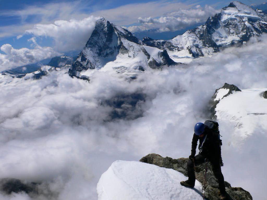 On the Ober Gabelhorn...
