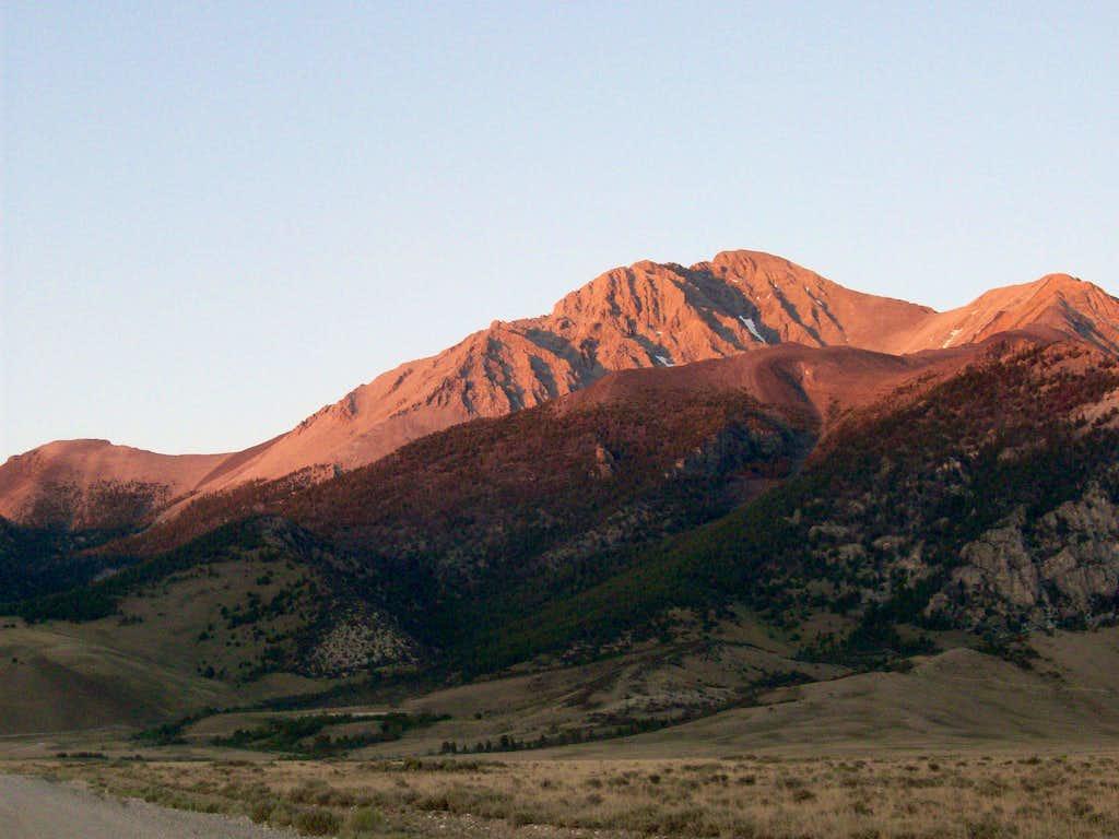 Borah Peak from route 93