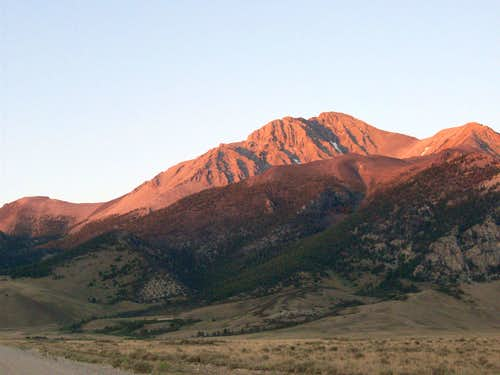 Borah Peak from route 93