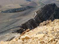 Borah Peak ridge crest section