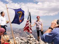 People at Borah Peak Summit