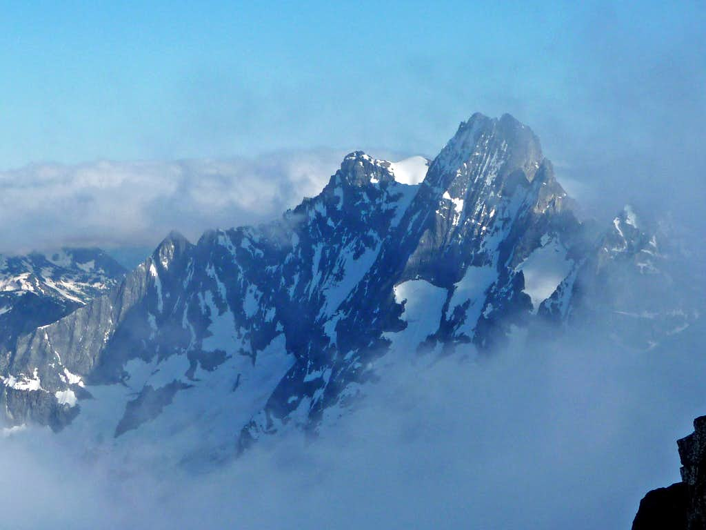 Mount Goode through the Clouds