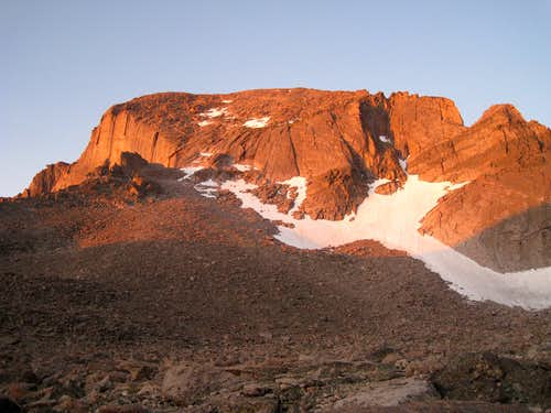 Morning light on the North Face of  Longs Peak