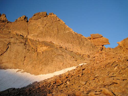 The access ramp on Keyhole Ridge