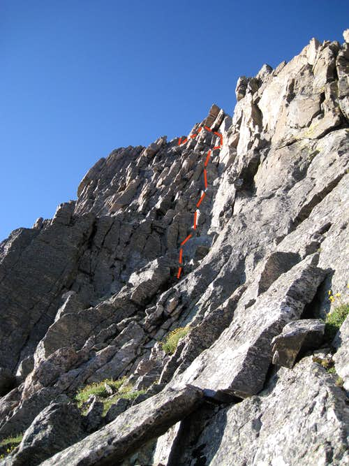 The route on the Second Tower