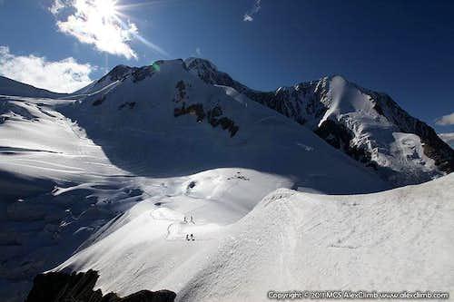 Peak Delone from the Berel Pass