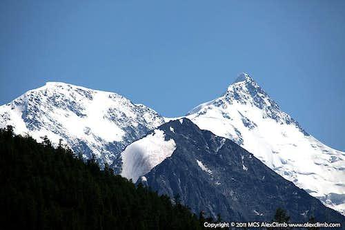 Peak Delone, Mount Yarlu, Belukha the East Summit