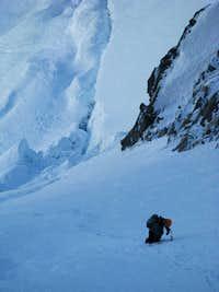 Climbing the couloir