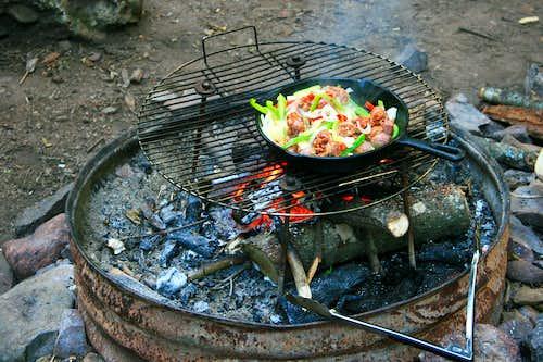 Backcountry dinner