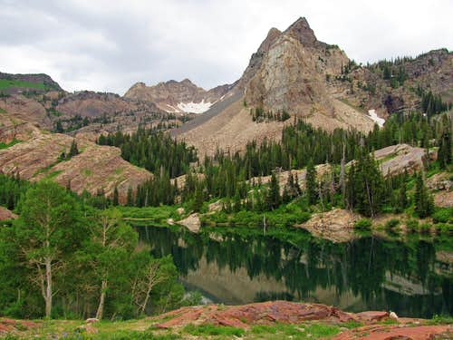 Lake Blanche on the way up