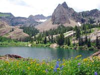 Lake Blanche on the way down