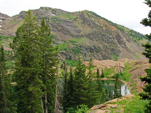 Ridge west of Lake Blanche