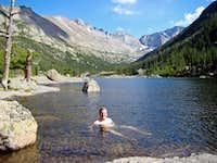 A swim in Mills Lake