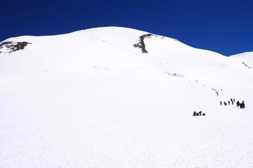west Breithorn - normale route