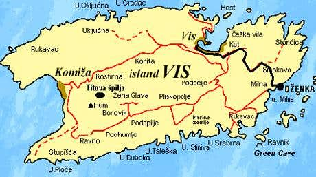 Vis Island Map map of island Vis : Photos, Diagrams & Topos : SummitPost