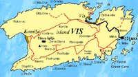 map of island Vis