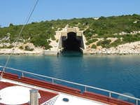 military tunnel in Vis bay