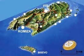 shematic map of island Vis