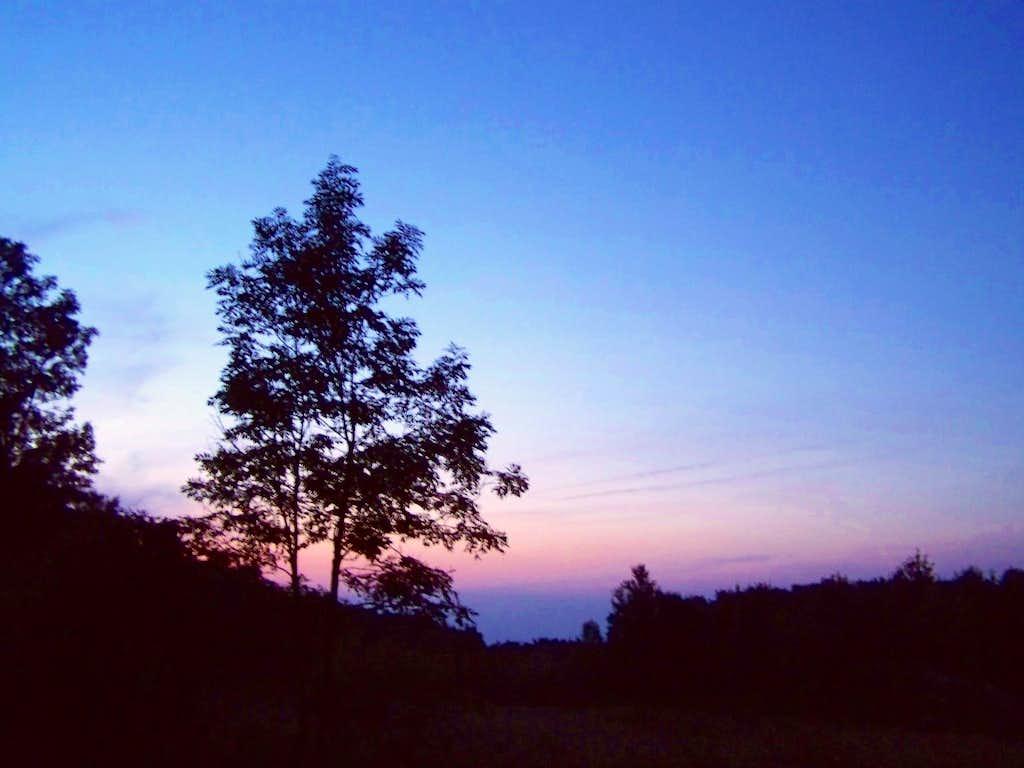 Pilis summit at dusk
