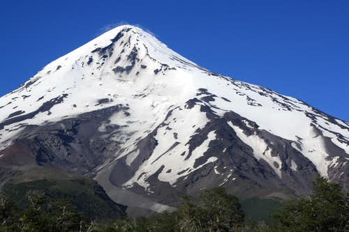 Volcan Lanin from the north