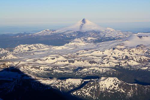 Volcan Villarica from the climb up Lanin
