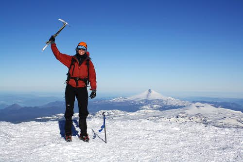 The summit of Volcan Lanin (3,776m)