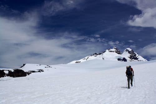 Hiking towards Refugio Otto Meiling on Monte Tronador