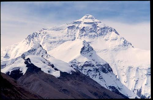 Everest in August 2004, as...