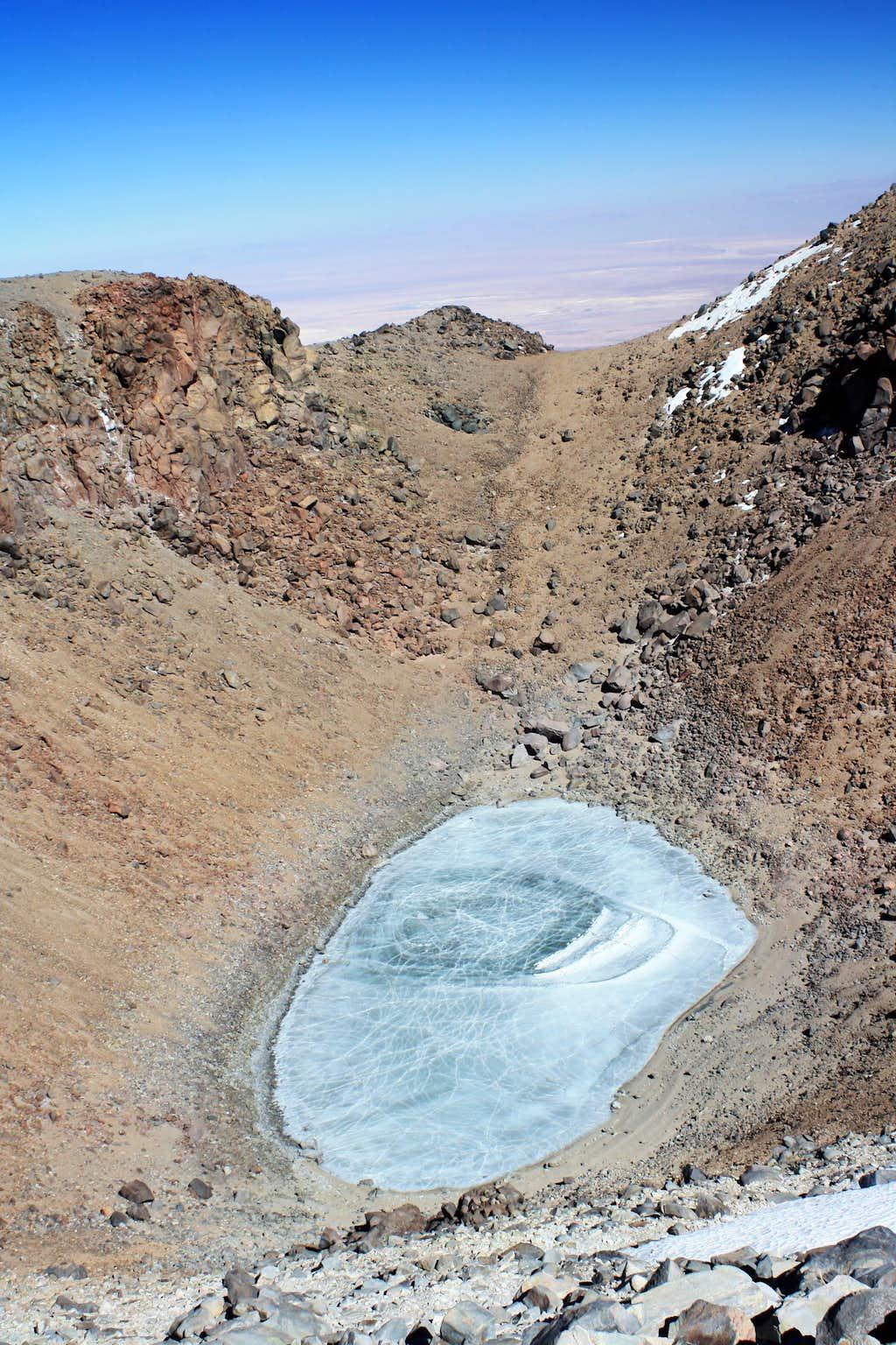 Crater lake on the summit of Licancabur