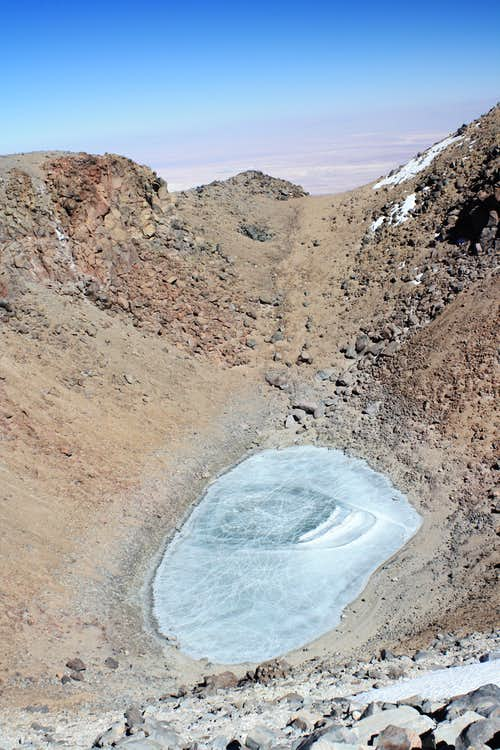 Crater lake on the summit of Licancabur
