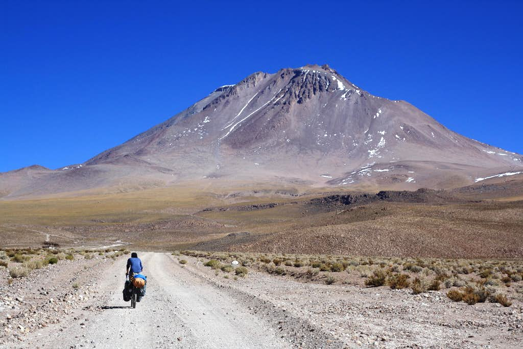 Cycling to Aucanquilcha