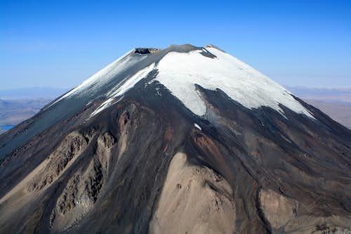 Parinacota from 6,000m on Pomerape