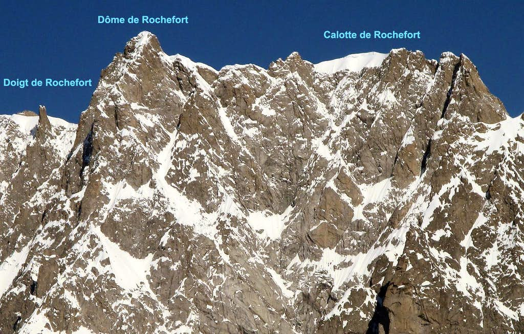 Doigt Dôme and Calotte de Rochefort.