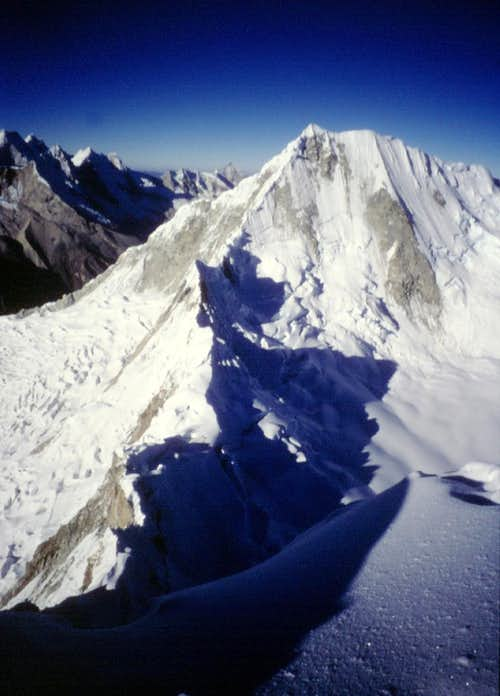 Quitaraju from Alpamayo summit
