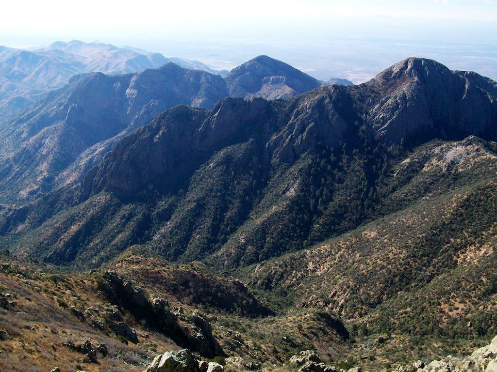View from top of organ peak