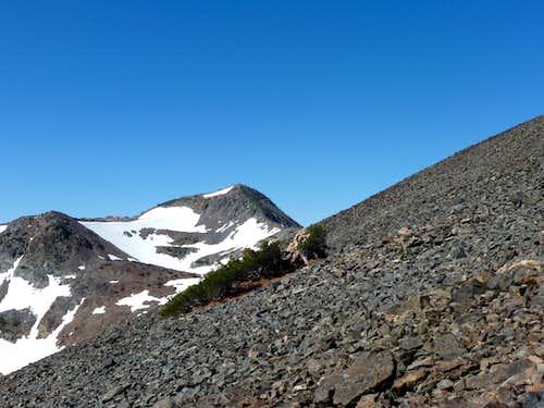 Jacks Peak seen on the way up Dicks Peak