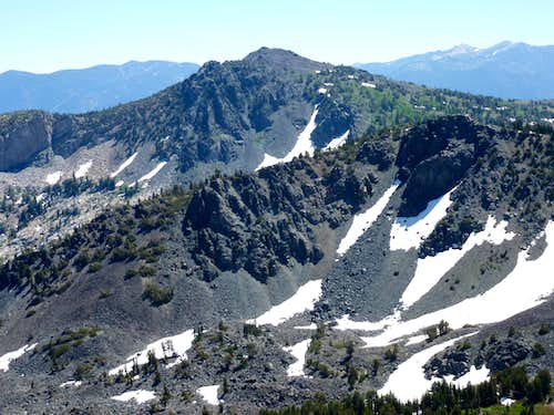 Mount Tallac 9735\' from Janine Peak