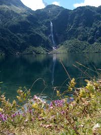 Waterfall of the Lac d Ôo