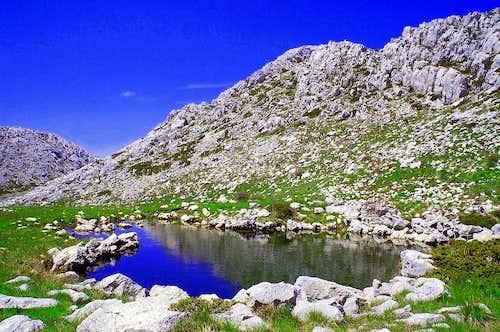 NW Biokovo lake