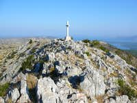 stone cross at Sveti Nikola