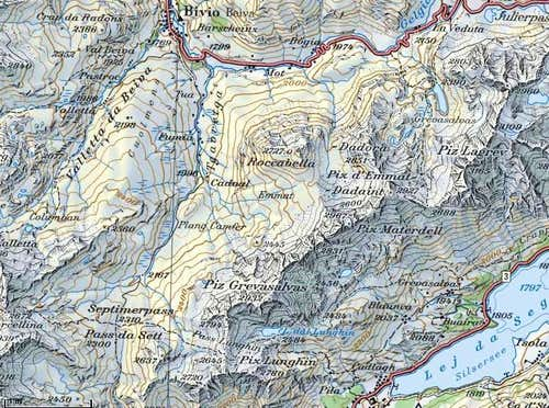 Piz Lunghin map