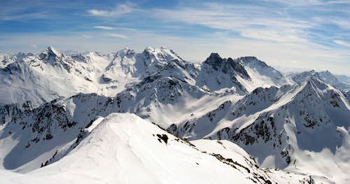 From the summit of Monte Filone...