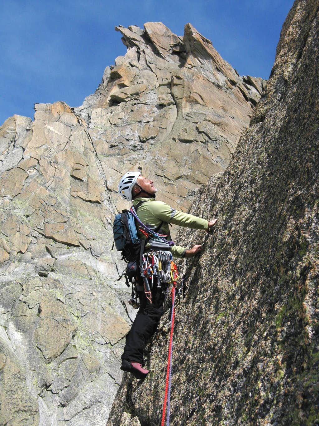 Enfer doux upper pitches, Gletschhorn Spur