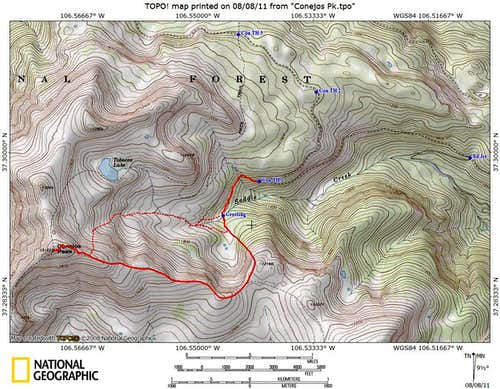 East Ridge Route, Conejos Peak