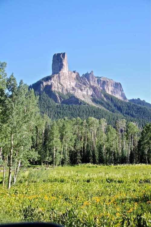 Chimney Rock and Courthouse